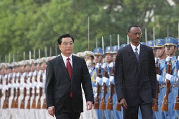 Président rwandais Paul Kagame en Chine