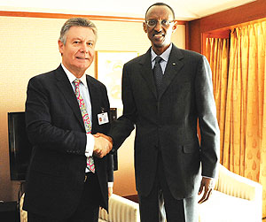 Paul Kagame à Bruxelles