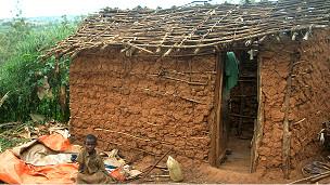 Maisons des Twa détruites