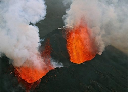 Volcan Nyamulagira en éruption