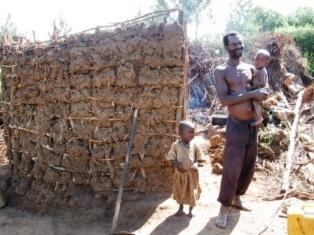 Maison détruite au Rwanda