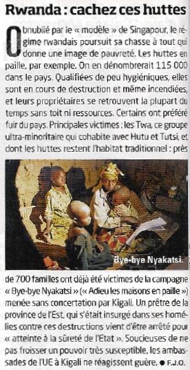 Rwanda : Cachez ces huttes !