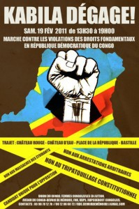 """Affiche """"Kabila dégage"""""""