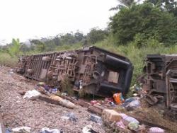RDC: 13 ou 14 morts dans le déraillement d'un train au Kasaï