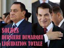Hosni Moubarak et Ben Ali