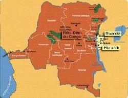 Les trois pays membres du CEPGL : Burundi, RDC et Rwanda