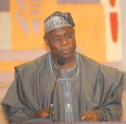 Olusegun Obasanjo, ancien président de la République fédérale du Nigeria