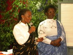 Mme Philomène Nishyirembere et Mme Perpétue Muramutse respectivement sécrétaire et coordinatrice de la section Canada du RifDP