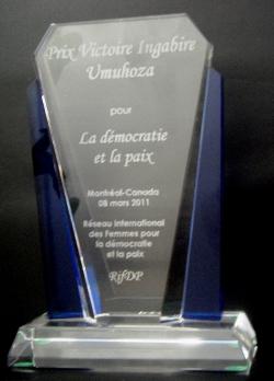 Prix Victoire Ingabire Umuhoza pour la démocratie et la paix