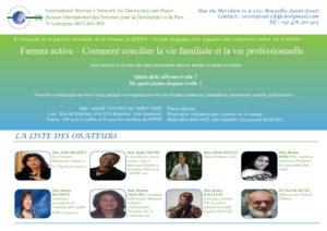 Invitation à une conférence-débat par RifDP