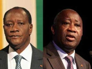Outtara et Gbagbo