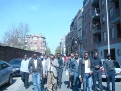 La commémoration du 6 avril à Bruxelles, Belgique