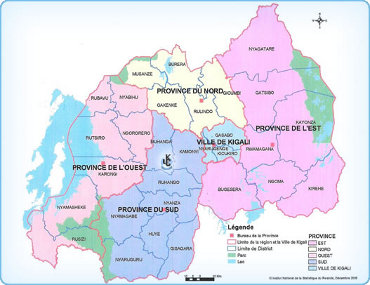 La carte du Rwanda