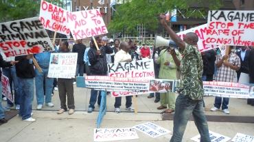 Manifestation contre Paul Kagame à Chicago