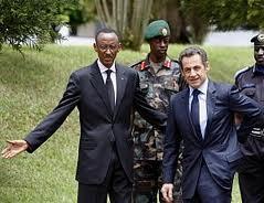 Présidents Nicolas Sarkozy et Paul Kagame