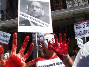 Manifestation des membres de la plateforme Stop à l'impunité au Rwanda