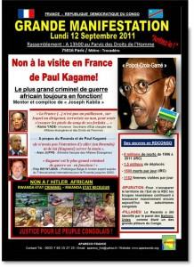 Rwanda-Congo : APARECO se mobilise contre la visite de Paul Kagame à Paris
