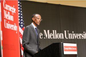 Paul Kagame à l'université de carnegie
