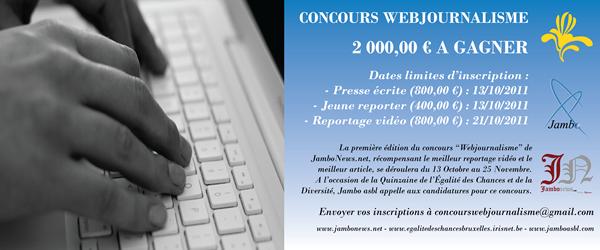 Concours webjournalisme - JamboNews.net - Jambo asbl - Région de Bruxelles-Capitales