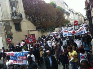 Paris: Manifestations contre la visite de Paul Kagame