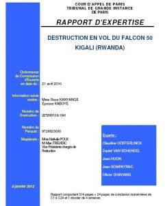 Rwanda : Le Rapport balistique sur l'attentat terroriste d'avril 94 enfin disponible !