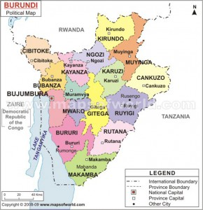La carte du Burundi