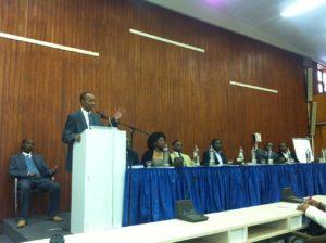 Rudasingwa lors de la conférence FDU-RNC du 31 mars 2012