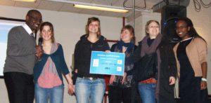 """Les lauréats de la catégorie reportages vidéos, pour le reportage """"Droits sans toits"""""""