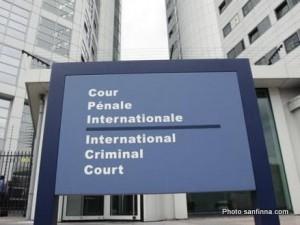 Cour pénale internationale à la Haye aux Pays-Bas