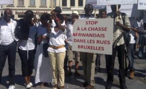 Manifestation de Rwandais à Bruxelles