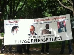 Manifestation de soutien aux prisonniers politiques rwandais à Bruxelles