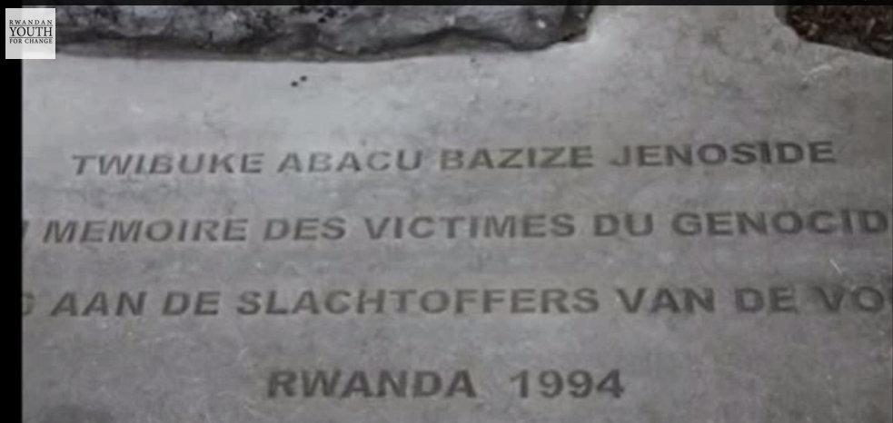 Stèle commémorative sise à Bruxelles