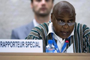 Le Rapporteur spécial des Nations Unies sur le droit de réunion et d'association pacifiques, Maina Kiai, Photo: Jean-Marc Ferré