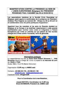 Manifestation contre Paul Kagame-1