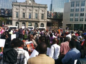 Manifestation contre Kagame