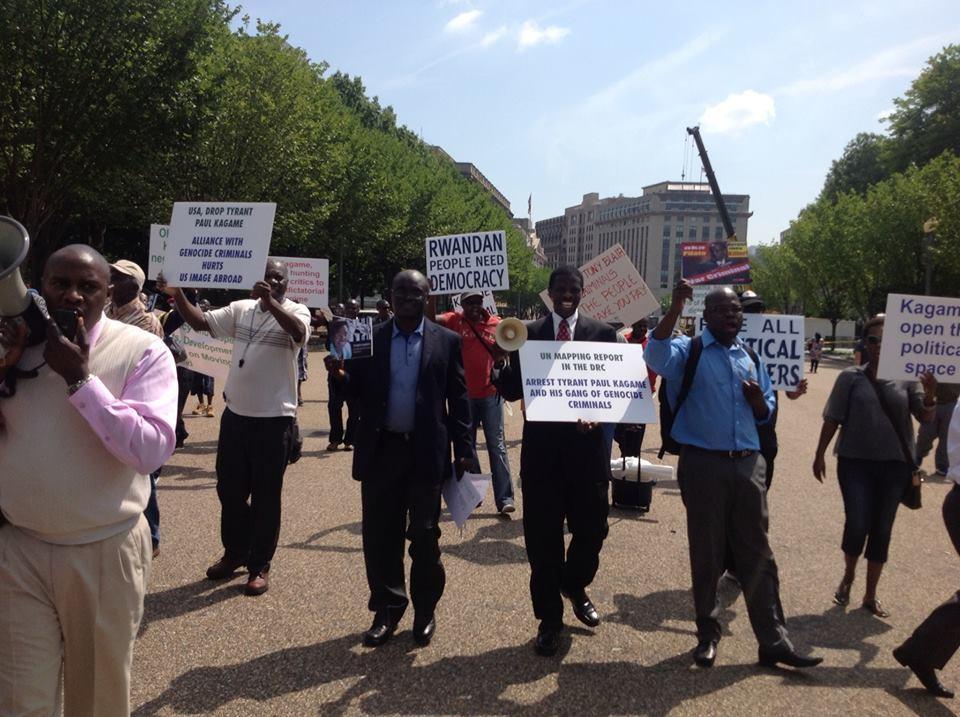 Sommet USA – Afrique: Manifestation contre Kagame devant la Maison Blanche