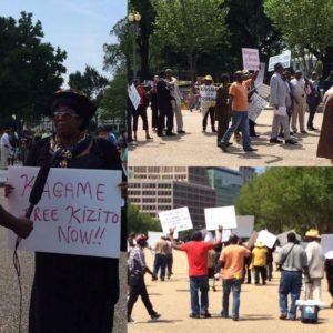 Manifestation contre Kagame devant la Maison Blanche - source: Jennifer Fierberg