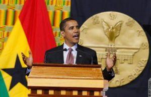 Barack Obama lors de son discours devant le Parlement ghanéen