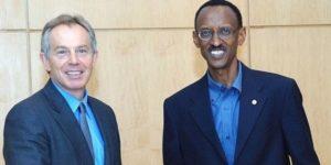 Paul Kagamé et son principale conseillé, le libéral, Tony Blair