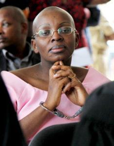 Victoire Ingabire, présidente des FDU-Inkingi, opposante politique condamnée à 15ans de prison.