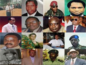Montage photos regroupant certaines personnalités politiques dont Kagame est accusé d'avoir commandité leur assassinat