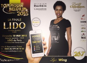 Lys Wing, une rwandaise à la conquête du concours Top model Belgium