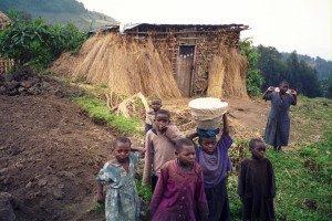 Famille résident dans les région des volcans