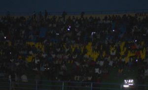 Le Stade de Huye plongé dans le noir