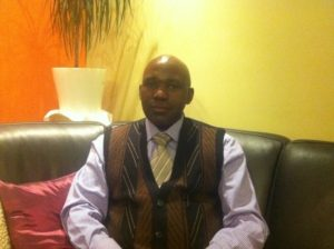 Jean-Baptiste Ryumugabe, coordinateur du PS Imberakuri en Belgique et représentant de son parti au sein de la Plateforme P5