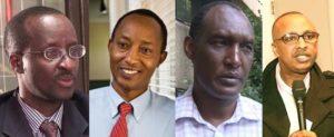 de gauche à droite: Dr. Gerald Gahima, Dr Rudasingwa Theogene, Kayumba Nyamwasa et Jonathan Musonera