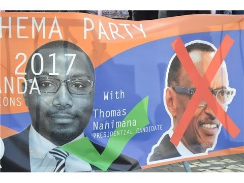 Affiche de campagne du Parti Ishema et de son candidat à la présidentielle 2017