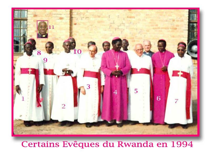 Mgr Thaddée Nsengiyumva (4), Mgr Joseph Ruzindana, (6), Mgr Vincent Nsengiyumva (7)