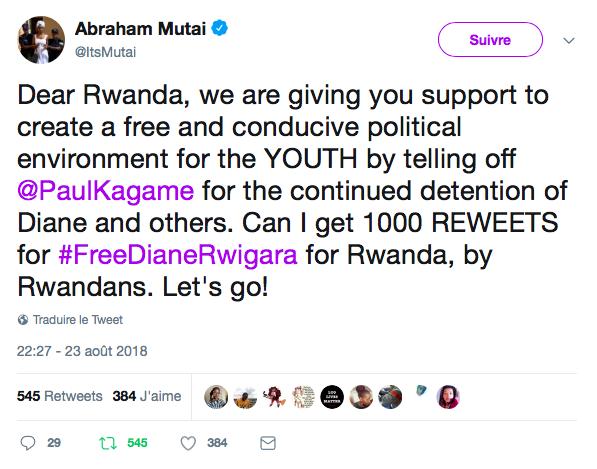 Rwanda: La jeunesse est-africaine contre la tyrannie de Paul Kagame
