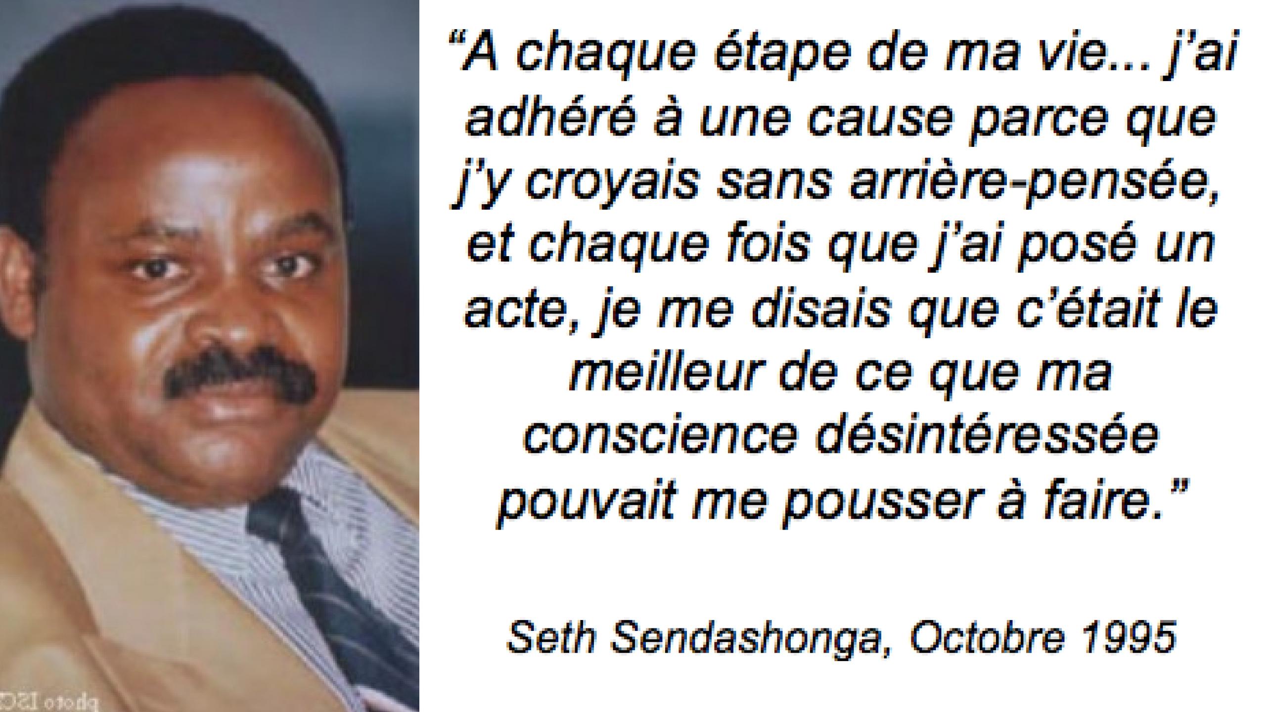 Rwanda – Assassinat de Seth Sendashonga: «la destruction d'un énorme espoir»